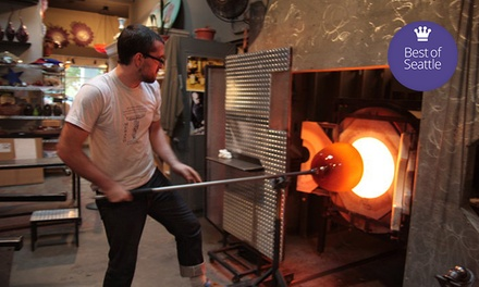 Glass-Blowing Workshops at Seattle Glassblowing Studio & Gallery (Up to 49% Off). Three Options Available.