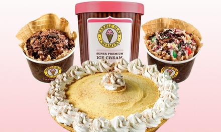 Two Ice Creams, Ice Cream Pies, or Pre-Packaged Liters at Marble Slab Creamery (Up to 46% Off)