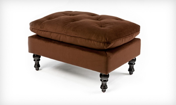 Doyle Chocolate-Brown Tufted Ottoman: $79 for a Doyle Chocolate-Brown Tufted Ottoman ($149.99 List Price). Free Shipping.