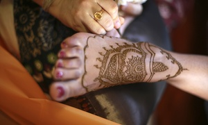 Marvi Threading: One or Three Medium Henna Tattoos at Marvi Threading (Up to 51% Off)