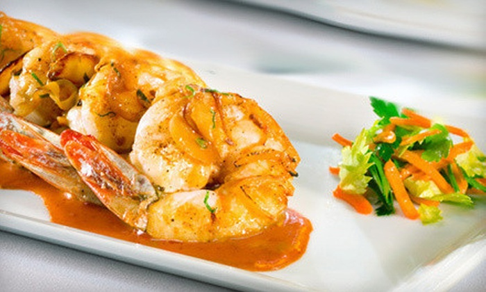 Biscayne - The Strip: Magic Show for Two with Optional Dinner and Wine or $25 for $50 Worth of Steak and Seafood from Biscayne