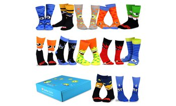 TeeHee Men's Monster Socks with Gift Box (12 Pairs)