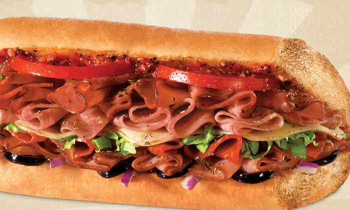 Quiznos - Wixom: $5 for a Regular Combo with an 8-Inch Sub, Bag of Chips, and a Medium Fountain Drink at Quiznos ($9 Value)