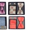 Brio Milano Men's Bow Tie, Handkerchief, & Cuff Links Set (3-Piece)