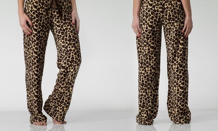 ef0ddae093 Women's Fleece Animal-Print Pajama Pants