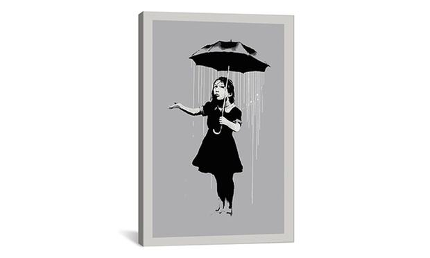 69 for banksy print on canvas 26 quot x 18 quot don t pay 123