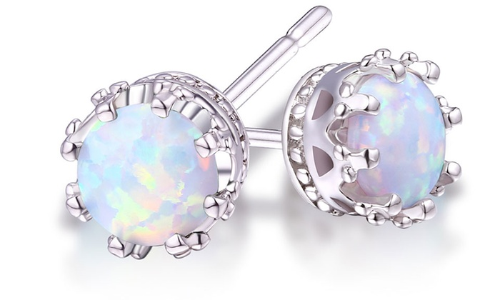 of zirconia stud round earrings cubic us set and icing