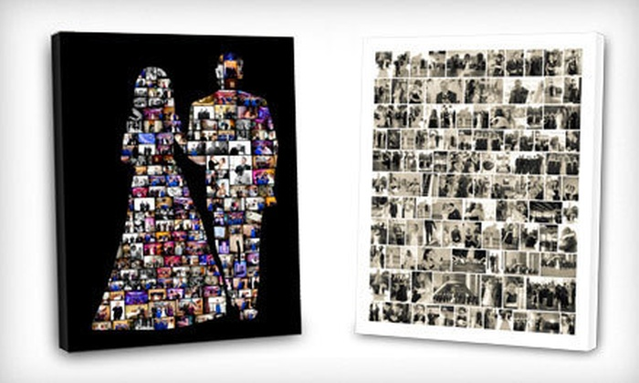 ScrapWalls - Birmingham: Custom Digital Photo-Collage Prints for Posters, Canvases, Cards, or Blankets (Half Off). Three Options Available.