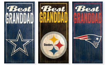 NFL Best Granddad Sign