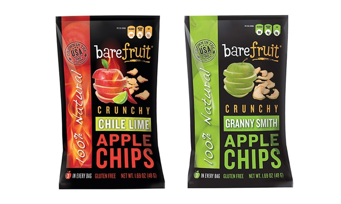 10-Pack of Barefruit Crunchy Apple Chips: 10-Pack of Barefruit Crunchy Apple Chips.