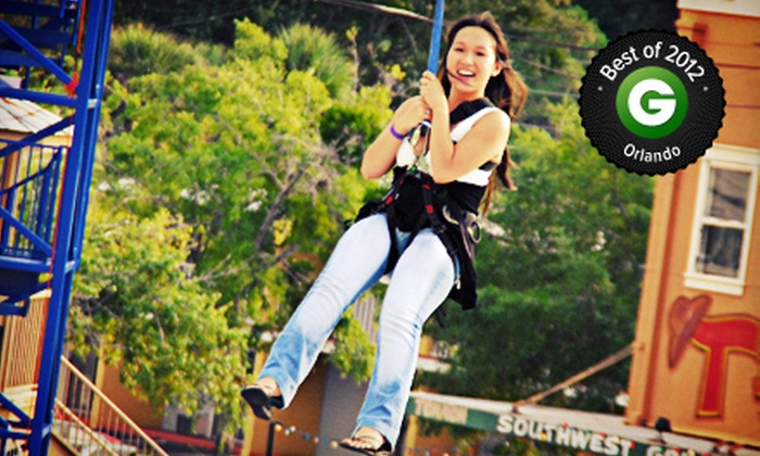 Old Town - Old Town: One-Time Access to Zipline, Rock Wall, and Ropes Course for One, Two, or Four at Old Town (Up to 53% Off)