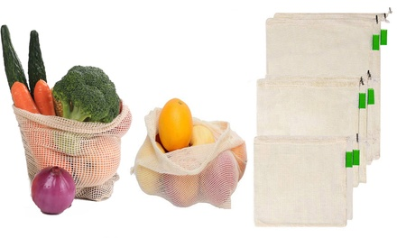Reusable Cotton Grocery Bags: 6-Pack ($19) or 12-Pack ($35)