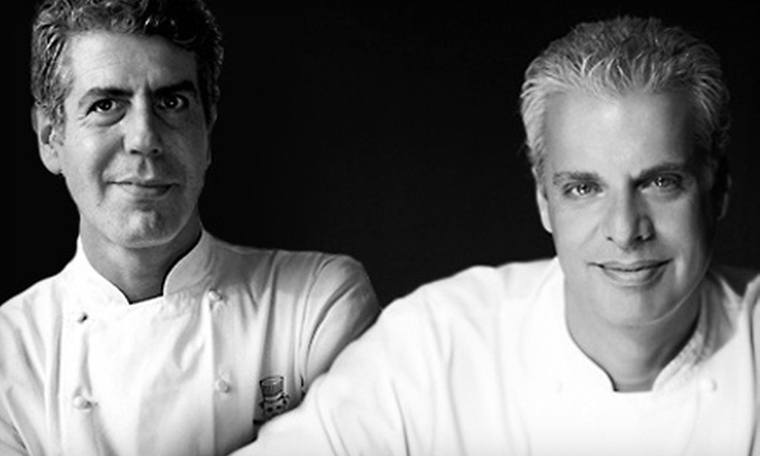"""Good vs. Evil: An Evening with Anthony Bourdain and Eric Ripert"" - Kilbourn Town: ""Good vs. Evil: An Evening with Anthony Bourdain and Eric Ripert"" on Friday, May 10 (Up to 45% Off)"