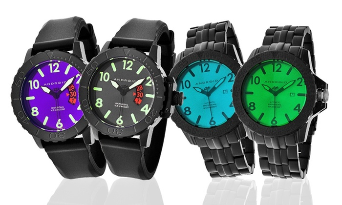 OKO International Company: Men's Android Watches (60% Off). Eight Options Available. Free Shipping.