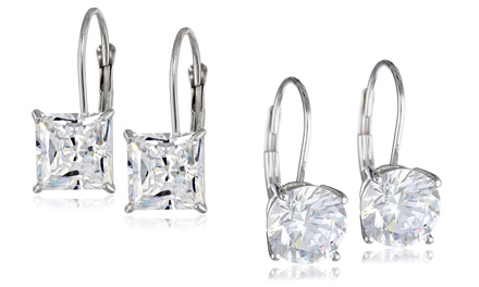 2-Pack of Lever-Back Earrings with Swarovski Elements Crystals