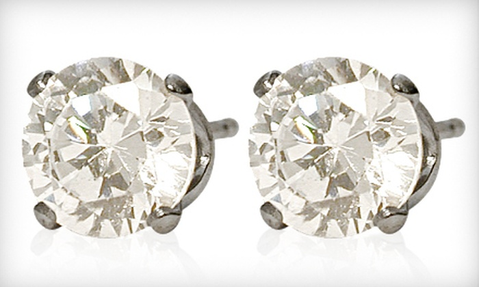 Elite Jewels: $5 for a Pair of Swarovski Elements White Crystal Stud Earrings ($59.95 List Price)
