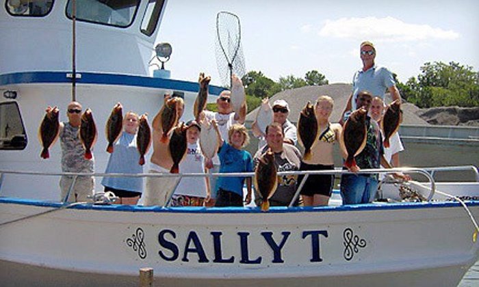 Sally T Fishing - Downtown Hampton: Half-Day Fishing Trip for Two from Sally T Fishing (Half Off). Two Options Available.