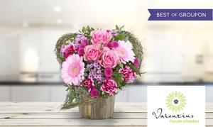Valentins: Wertgutschein über 14,05 € anrechenbar auf das gesamte Blumen- und Geschenksortiment von Valentins