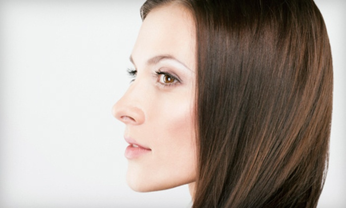 Concerto Salon & Spa - Valencia: $47 for a Spa Package with Haircut, Deep Conditioning Treatment, and Eyebrow Shaping at Concerto Salon & Spa in Valencia (Up to $110 Value)