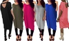 Women's Oversized Baggy Batwing Tunic with Strap