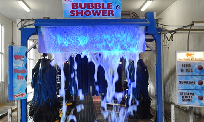 The Bubble Bath Carwash - Multiple Locations: Two or Four Fire and Ice Premium Washes at The Bubble Bath Carwash (Half Off)