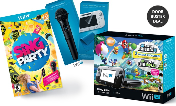 Nintendo Wii U System Bundle with Games and Wii U GamePad Accessory Kit: Nintendo Wii U System Bundle with Three Games and Accessory Set. Free Returns.
