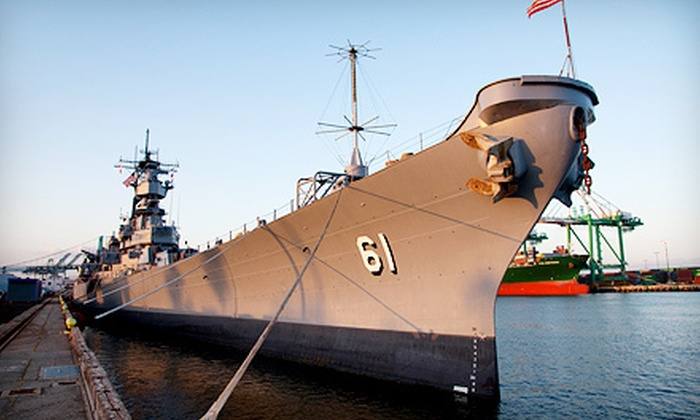 "Battleship Iowa - LA Waterfront / San Pedro: Self-Guided Tour for Two or Four on the USS ""Iowa"" (Up to 53% Off)"