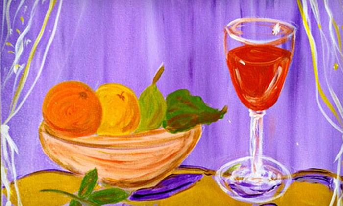 Painting on the Vine - North Admiral: BYOB Painting Class including One Drink, Snacks, and Materials for One, Two, or Four at Painting on the Vine (Up to 53% Off)