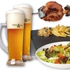 Menú con codillo alemán y cerveza
