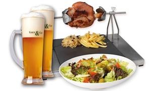Kurz & Gut: Menú alemán para 2 o 4 con entrante, codillo de 700 g y jarra de cerveza desde 15,95 € en 10 locales Kurz & Gut
