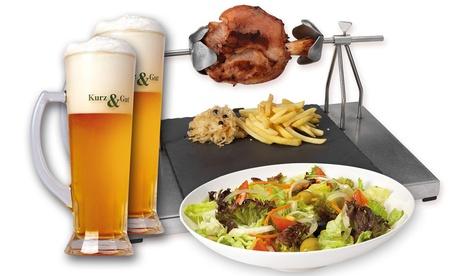 Menú alemán para 2 o 4 personas con entrante, codillo y bebida desde 15,95 € en Kurz & Gut