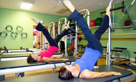 One or Two Private Pilates Classes with Group Classes at Pilates Plus (Up to 59% Off)