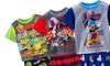 Boys' Character Short-Sleeve Pajama Set: Boys' Character Short-Sleeve Pajama Set