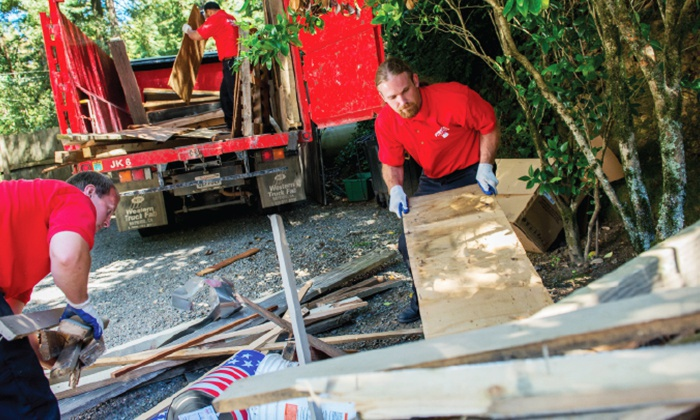 Junk King - Fitchburg: $79 for Three Cubic Yards of Junk Removal from Junk King Worcester ($158 Value)