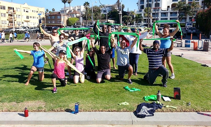 Bands and Body Beach Fitness - Downtown Santa Monica: One or Two Months of Weekend Partner Resistance Band Classes at Bands And Body Beach Fitness (Up to 54% Off)