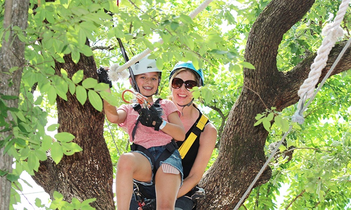 Trinity Forest Adventure Park - Southeast Dallas: Combo Admission with Ziplining at Trinity Forest Adventure Park and Southern Cross Ranch (Up to 50% Off)