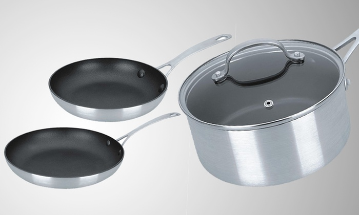 Kevin Dundon 4-Piece Cookware Set: $49.99 for 4-Piece Kevin Dundon Nonstick Cookware Set ($240 List Price). Free Shipping and Returns.