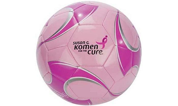 Brine Triumph 250 Susan G. Komen Soccer Ball: Brine Triumph 250 Susan G. Komen Soccer Ball in Size 3 or 4