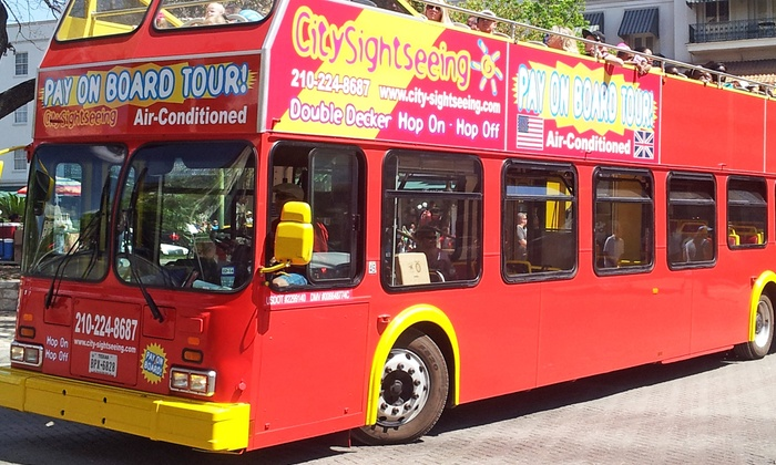 City Sightseeing San Antonio - City Sightseeing San Antonio: Double Decker Bus Tour for Two, Four, Six, Ten or a Family of Five from City Sightseeing San Antonio (Up to 51% Off)