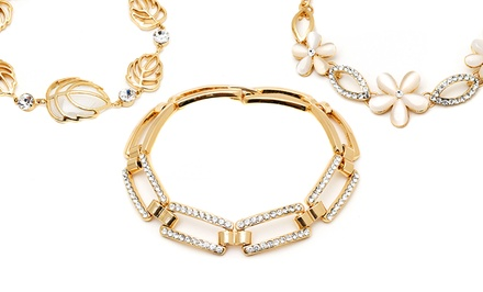 1/10 CTTW Bracelet with Swarovski Elements from $19.99–$23.99