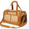 Medium Sherpa Amelia Pet Carrier in Tan with Sand Trim