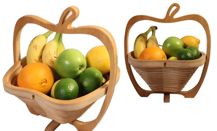 Collapsible Bamboo Fruit Basket