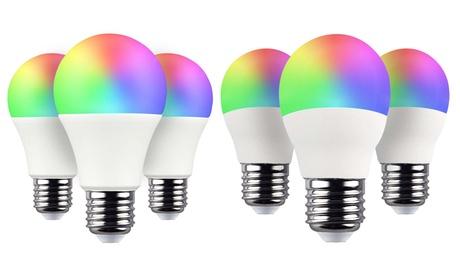 Pack de 3 bombillas LED E27 RBG controladas por WiFi