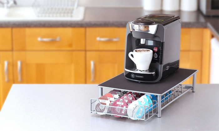 tassimo compatible coffee pod holder groupon. Black Bedroom Furniture Sets. Home Design Ideas