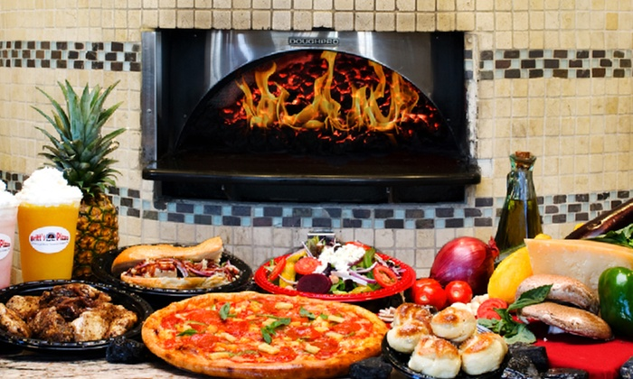 Britt's Coal Fire Pizza - Treasure Island: $12 for $20 Worth of Coal-Fired Pizza, Subs, Salads, Wings, Beer and Wine at Britt's Coal Fire Pizza