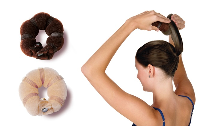 4-Pack of Hot Buns Hair Accessories: 4-Pack of Hot Buns Hair Accessories in Brown or Blond.