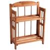 Two-Shelf Cedar-Finish Bookcase
