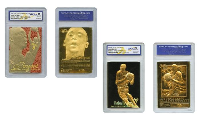 Kobe Bryant Rookie Cards in 23K Gold Foil