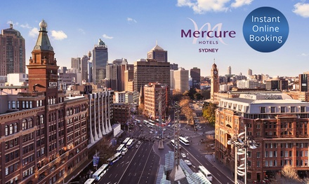 Sydney CBD: 13 Nights for Up to 2 Adults & 2 Children with Breakfast and Option for Dinner at 4* Mercure Hotel
