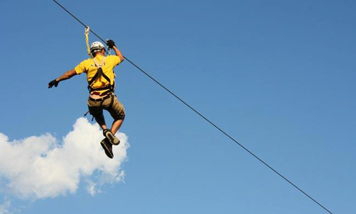 The Big Zipper - Maysville: Zipline Outing for Two or Four at The Big Zipper (Up to 34% Off)